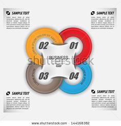 circles data / vector template infographic - stock vector