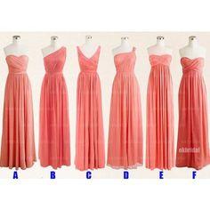 Peach bridesmaid dresses, cheap bridesmaid dresses, chiffon bridesmaid dresses, long bridesmaid dress, chiffon bridesmaid dresses, 15228
