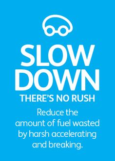 Slow down, there's no rush