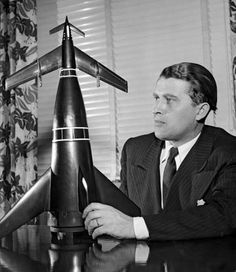 German rocket scientist Wernher von Braun (1912-1977), born in 1912 in Wirsitz, Germany, took an early interest in rockets and the possibility of space exploration. Description from forums.military.com. I searched for this on bing.com/images
