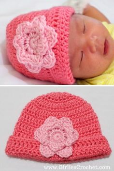Crochet Flowers Easy Free crochet pattern: Easy Crochet Baby Beanie - This is a free crochet pattern for Easy Baby Crochet Beanie with photo tutorial in each step. This beanie can be a unisex beanie, depending on the color you choose. Crochet Baby Hat Patterns, Crochet Baby Beanie, Crochet Beanie Pattern, Baby Hats Knitting, Crochet Hats, Crochet Puff Flower, Love Crochet, Crochet For Kids, Crochet Flowers