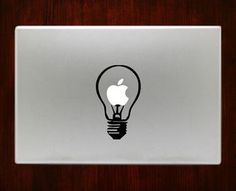 Light bulb Decal Sticker For Macbook Pro Air Retina 11 / 13 / 15 / 17 inch Macbook Laptop 1. Easy application in minutes.2. High resolution, full detail precision cut.3. Decals are cut on High Quality