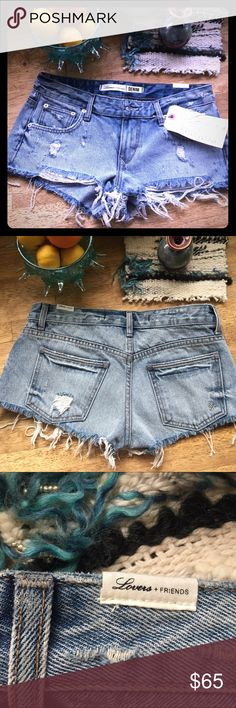Lovers + Friends Denim Shorts NWT Distressed Denim shorts. Better offer on PP Lovers + Friends Shorts Jean Shorts