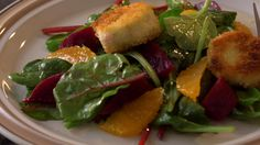 ... baby greens, beets, blood oranges, and warm goat cheese. The flavors