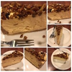 Sweet Potato Cheesecake with Pecans Collage