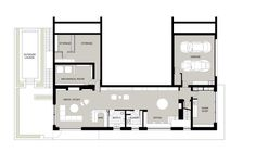 New Canaan Residence,Lower Plan