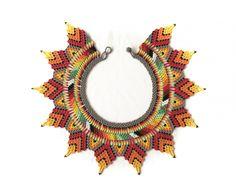 Chaquira Bead Crochet, Crochet Earrings, Wooden Dolls, Beaded Embroidery, Brooch, Jewels, Beads, Chula, Pattern