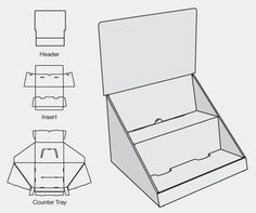 Packmage corrugated and folding carton box packaging for Point of sale display template