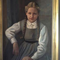 Portrait of Cecile Van Elst (born 1952), my oldest sister.