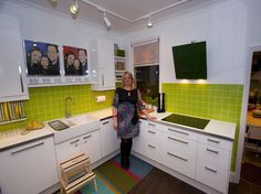 nice ikea small kitchen ideas with white background and green backsplash