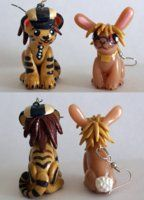 Tiger and Bunny Earrings by *balletvamp on deviantART