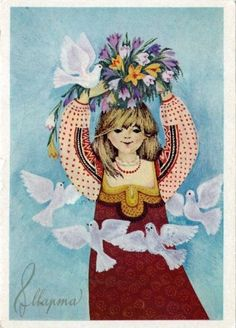 Советские открытки к 8 марта.Попытка анализа сюжетов