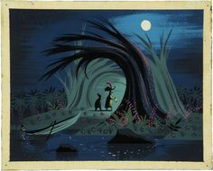Peter Pan concept art by Eyvind Earle. Awakening Beauty: The Art of Eyvind Earle is both a new book and an exhibition from Disney featuring the late artist& wonderful illustrations and artwork. Art Disney, Disney Artists, Disney Kunst, Disney Concept Art, Disney Movies, Mary Blair, Eyvind Earle, Art Magique, Animation Disney