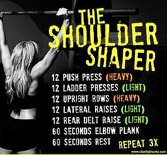 The Shoulder Shaper Workout Fitness Models, Fitness Tips, Fitness Motivation, Workout Fitness, Easy Weight Loss, Healthy Weight Loss, Weight Lifting, Workout Plan For Beginners, Shoulder Workout