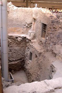 Santorini, Greece, the arhaelogical site of AKROTIRI during the BC's.