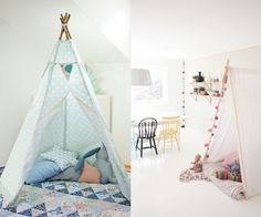 Ideas para hacer un Tipi indio Baby Deco, Pretty Animals, Hanging Chair, Ideas Para, Toddler Bed, Nursery, Kids, Furniture, Tee Pee