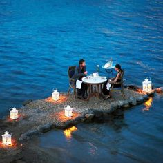 Private dining at the Hotel Kivotos in Mykonos, Greece - The perfect date