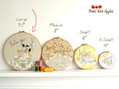 Embroidery Hoop Art. cute idea for baby room.