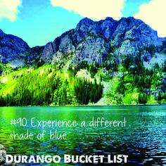 Durango Bucket List: Experience a different shade of blue    Alpine Lake near Durango, Colorado    Thanks Instagramer, @_maddyiffty_