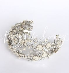 Double ornate beaded and crystal hair vine - Style # 413 - Ready to Sh (2014, hair adornments, hair vine, hair vines, headbands, headpieces, ready to ship, twigs and honey, view all)   Headpieces   Twigs  Honey ®, LLC