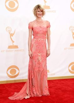 Laura Dern in Naeem Khan at the Emmys 2013|Lainey Gossip Entertainment Update