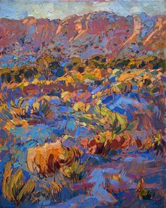 Ghost Ranch landscape painting by modern impressionist painter Erin Hanson