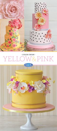 Yellow & Pink - a soft and elegant combo!