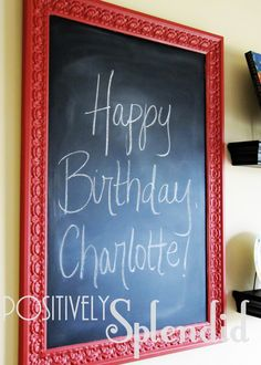 Love this!   Positively Splendid {Crafts, Sewing, Recipes and Home Decor}: Kitchen Decor Updates (New Shelving and Chalkboard)