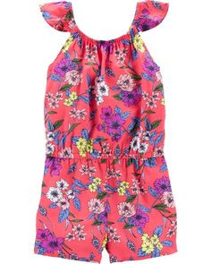 854f6374f2cff Flutter Sleeve Floral Romper. OshKosh B'Gosh. Baby Girl Flutter Sleeve  Floral Romper from OshKosh B'gosh. Shop clothing & accessories from a trusted  name ...