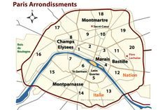 Learn About Arrondissements: The Districts of Paris: Finding Your Way in Paris - Paris Arrondissement Map and Guide