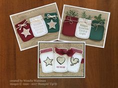 Jar of Love, Christmas Messages, Wood Words, Everyday Jars Framelits, Pretty Pin. - Stampin`Up - Yorgo Xmas Cards, Holiday Cards, Handmade Christmas, Christmas Crafts, Christmas Music, Christmas Movies, Christmas Tree, Mason Jar Cards, Stampin Up Weihnachten