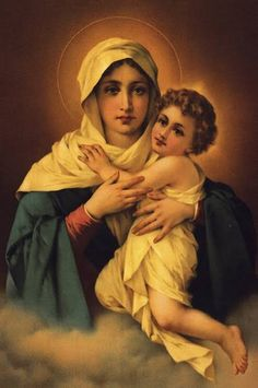 Catholic Pictures, Religious Photos, Jesus Pictures, Jesus Mother, Blessed Mother Mary, Blessed Virgin Mary, Jesus Christ Images, Jesus Art, Catholic Art