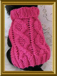 Ravelry: Entwined Paths dog sweater from Celtic Doggies pattern by Debby Decker