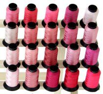 20 Spools PINK Embroidery Machine Thread