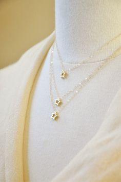 Gold Layered Star Necklace by YsmDesigns on Etsy