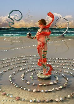 The Spiral Builder of the Low Tide by ArthurBlue.deviantart.com on @DeviantArt