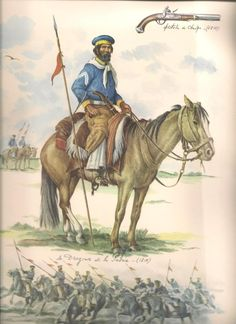 Dragoons de la Patrie, In 1810 the Buenos Aires Dragoons and King's Hussars were both dissolved by order of the Priera Junta and were crweated into Dragones de la Patria Military Art, Military History, Rio Grande, Independence War, American War, South America, Folk, Fan Art, Triple Alliance