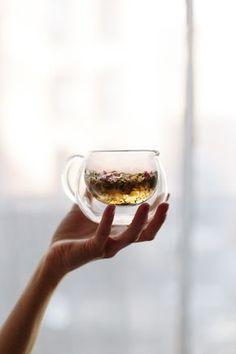 The Spring Tonic Tea, blend of Calendula flowers, lemon verbena, rose petal, chamomile flowers, nettles, rosehips & red clover. [Marble & Milkweed | Yoke Quarterly]