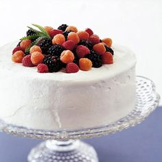 Sherry-Almond Cake Raspberry preserves fill this sherry and almond flavored dessert while whipped cream envelopes the luscious cake. For elegant presentation, top each serving with fresh berries.