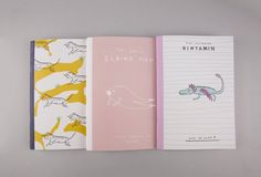 A5 – A5 Animals Notebook. Set Of 3 – a unique product by Noa-Goffer on DaWanda