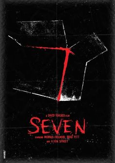 Seven Horror Poster Greatest thriller move ever. Kevin Spacey was unbelievable! Horror Movie Posters, Best Movie Posters, Minimal Movie Posters, Cinema Posters, Movie Poster Art, Horror Movies, Fan Poster, Brad Pitt, Scary Movies