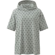 UNIQLO Women's Disney Project Pullover Hoodie ($15) ❤ liked on Polyvore featuring tops, hoodies, grey, green hooded sweatshirt, green pullover hoodie, uniqlo hoodies, pullover hoodies and pullover hoodie