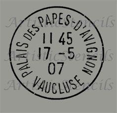 STENCIL Vintage French Postage Stamp 10x10