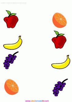 Meyveleri Eşleştirme Çalışma Kağıdı 4 Year Old Activities, Kindergarten Reading Activities, 1st Grade Math Worksheets, Kindergarten Worksheets, Free Preschool, Toddler Crafts, First Day Of School, Kids Education, Color Themes
