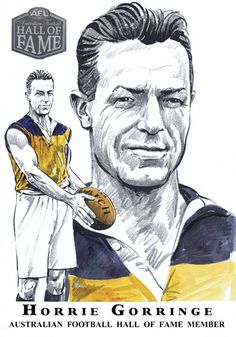 Hall of Fame — Col Bodie Sports Art Australian Football, Football Hall Of Fame, Sports Art, Tasmania, History, Drawing, Illustration, People, Historia