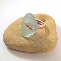 Size 8 Sea Glass Ring Sea Glass Jewelry Wire Wrapped Ring Mermaid Beach Glass Jewelry by MoreThanSeaGlass on Etsy https://www.etsy.com/listing/265524406/size-8-sea-glass-ring-sea-glass-jewelry
