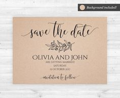 Save The Date Template For Only DIY Has Never Been So Easy And - Rustic save the date templates
