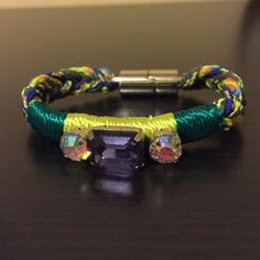 """Bimba&Lola Bracelet Spanish brand. I bought it in Spain but I never wore it. Magnetic clasp which makes it easy to wear. Colorful and fun bracelet. The main purple bead is a little bit loose. End to end is 7 1/4"""" Bimba & Lola Jewelry Bracelets"""