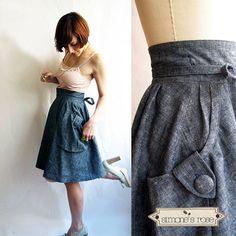 Denim wrap skirt Heartland Hemp & organic von SimonesRoseBoutique