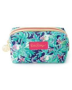 LILLY PULITZER Palm Beach TRUNK SHOW Bright Navy Blue Cosmetic Case Bag NWT #LillyPulitzer #CosmeticBags